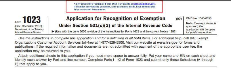 tax exempt status requirements